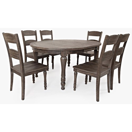 Jofran Madison County Table & 6 Chairs