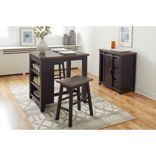 Jofran Madison County 3pc Counter Height Set