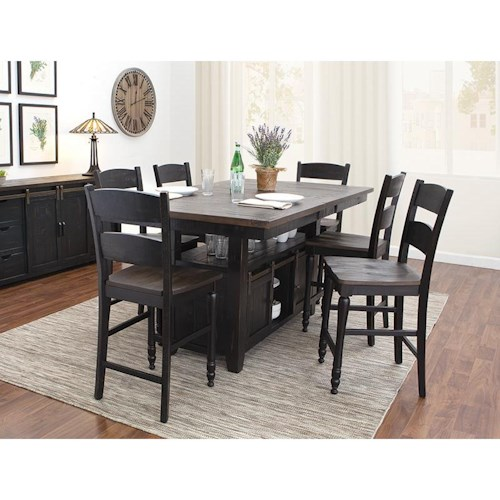 Jofran Madison County 5 Piece Counter Height Dining Set