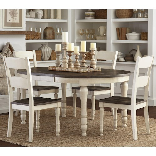 Jofran Madison County Table & 4 Chairs