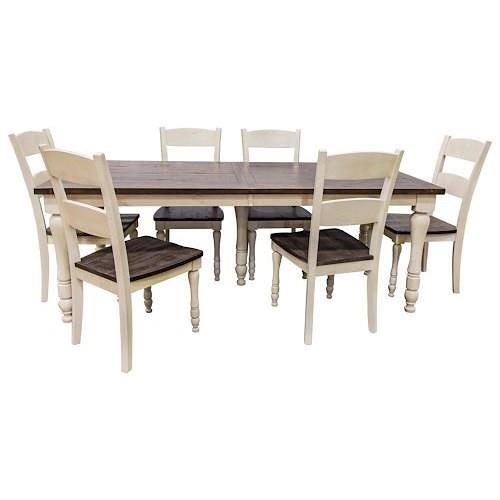 Jofran Madison County Rectangular Table and FOUR chairs