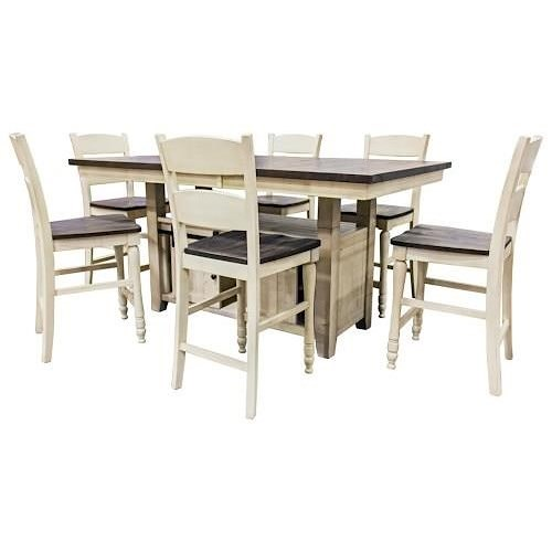 Jofran Madison County Pub Table and FOUR Stools
