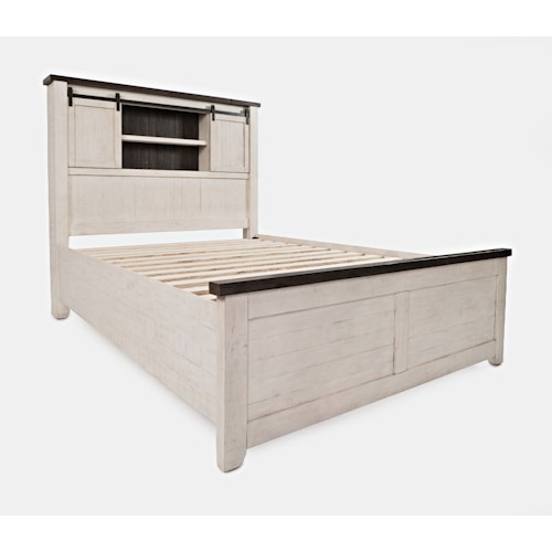 Jofran Madison County Queen Barn Door Bed
