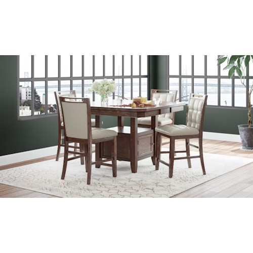 Jofran Manchester Counter Height Dining Set (4 People)