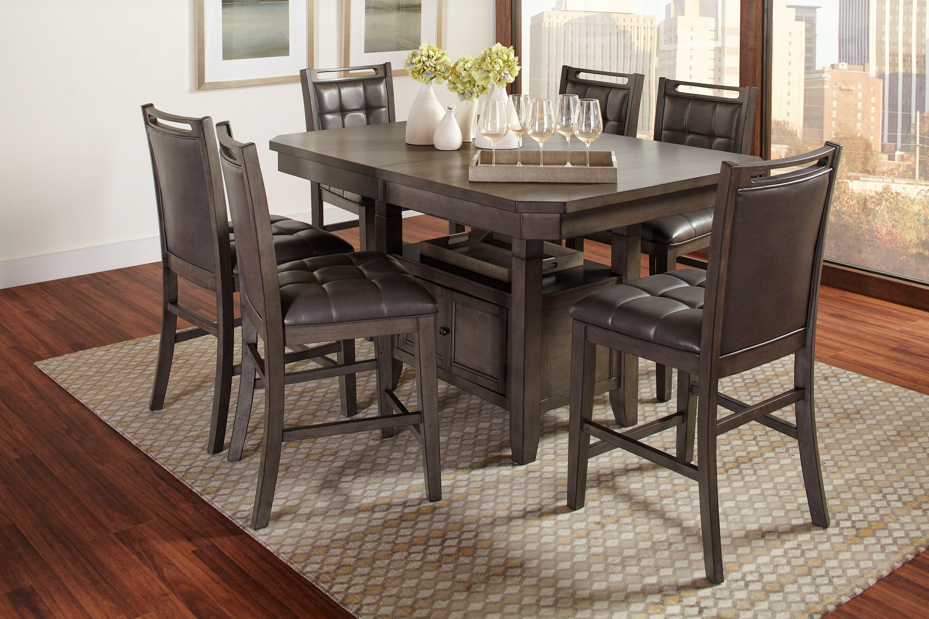 Jofran Manchester 7 Piece Pub Table And Chair Set