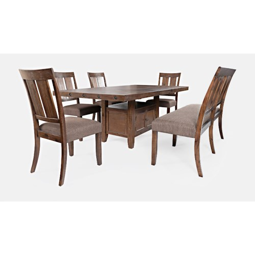 Jofran Mission Viejo Table and Chair Set with Bench
