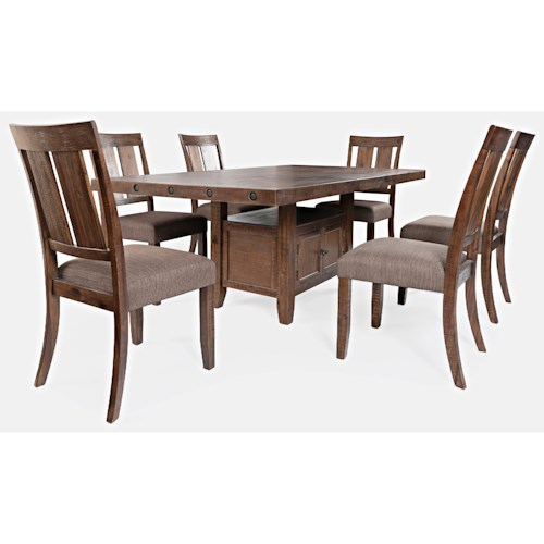 Jofran Mission Viejo 7-Piece Table and Chair Set
