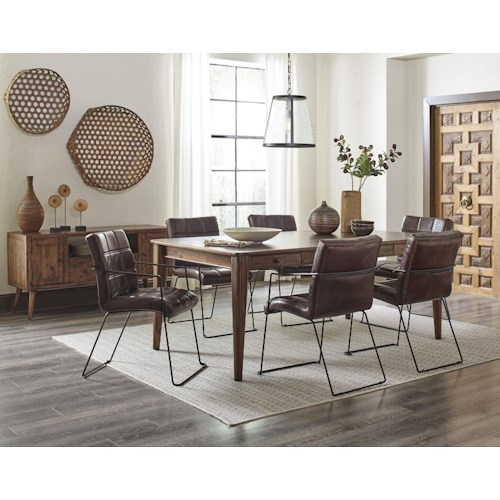 Jofran Modern Living Table and 6 Chair Set