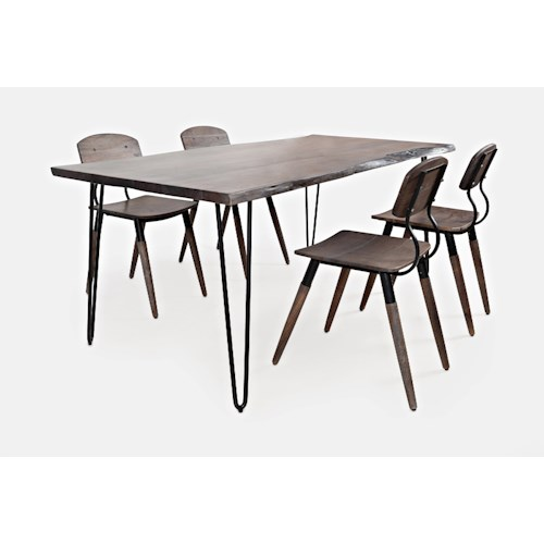 Jofran Nature's Edge 5-Piece Table and Chair Set