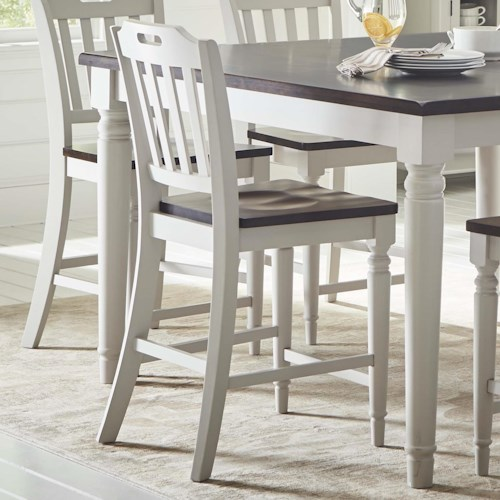 Jofran Orchard Park Slatback Counter Height Stool