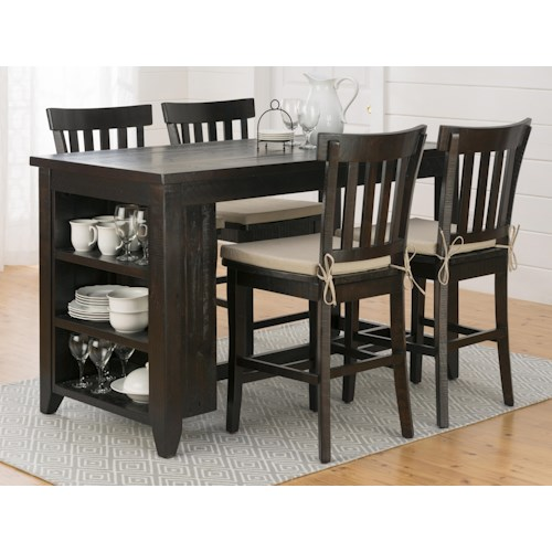 Jofran Prospect Creek Counter Height Storage Table and Stool Set