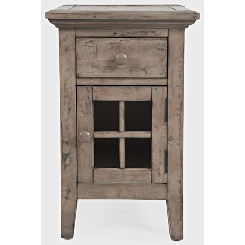 Jofran Rustic Shores Power Chairside Table