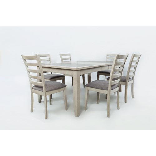 Jofran Sarasota Springs Tiled Extension Dining Table And Chair Set - The table sarasota
