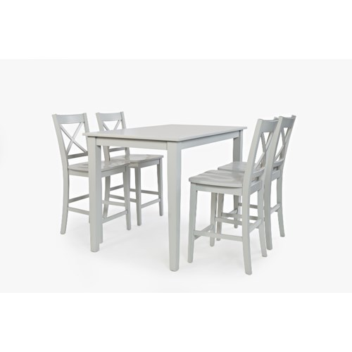 Jofran Simplicity Rectangle Counter-Height Table and Chair Set