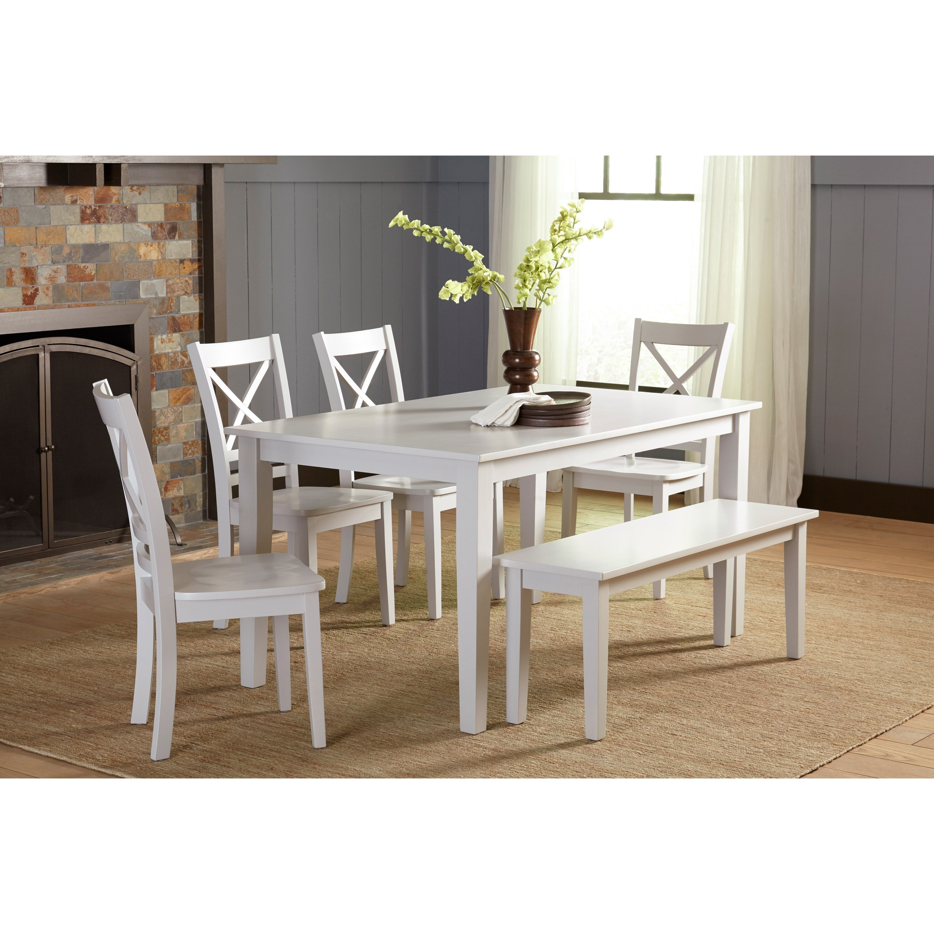 Jofran Simplicity Dining Table And Chair/Bench Set