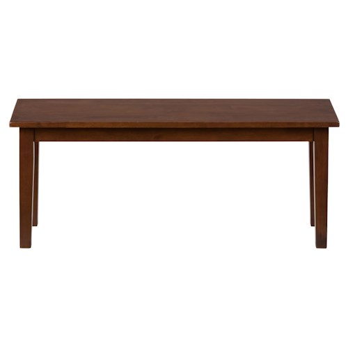 Jofran Simplicity Wooden Dining Room Table Bench