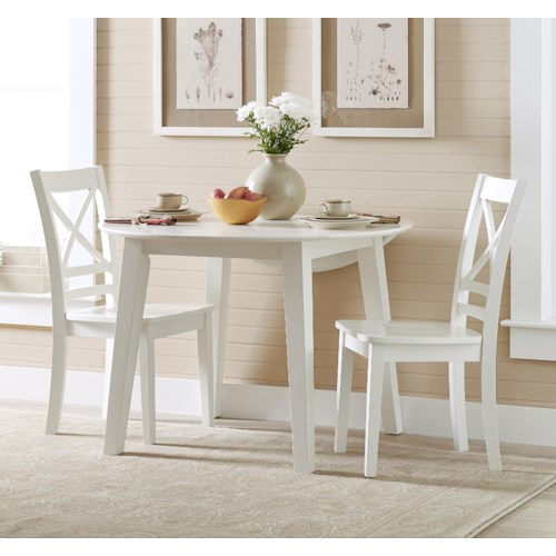 Jofran Simplicity Round Table and 2 Chair Set (with