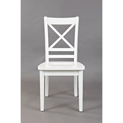 """Jofran Simplicity """"X"""" Back Dining Room and Kitchen Side Chair"""