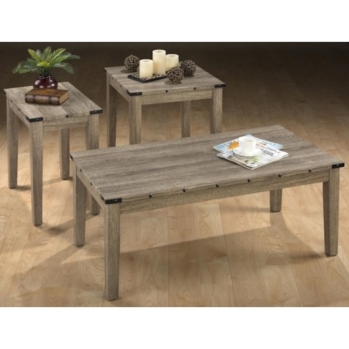 Jofran Taos  Oak Three Pack