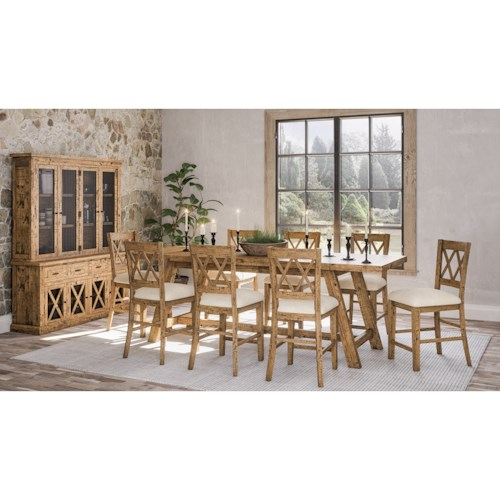 Jofran Telluride  9-Piece Counter Height Table and Chair Set
