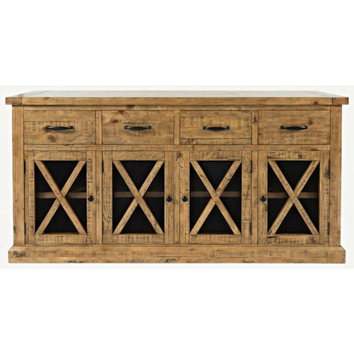 Jofran Telluride  4 Drawer Sideboard