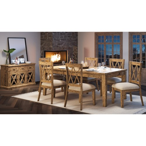 Jofran Telluride  7-Piece Table and Chair Set