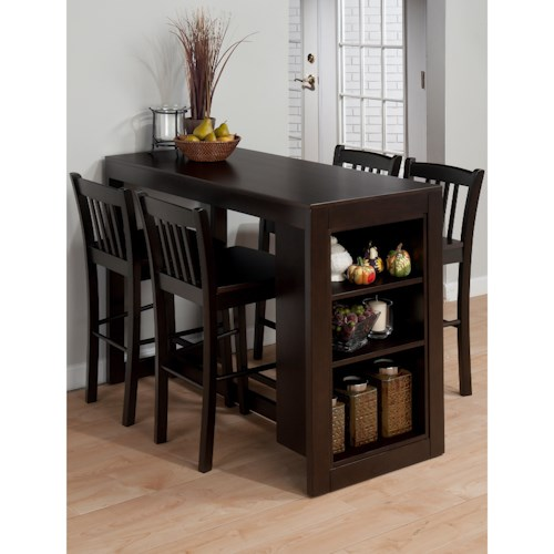 Jofran Tribeca Counter Height Table with 4 Chairs