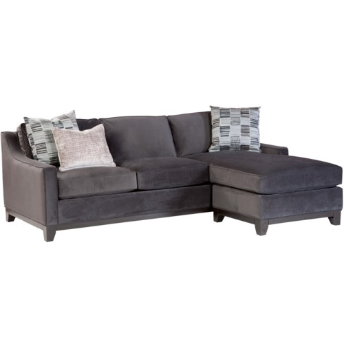Jonathan Louis Janet Contemporary Sofa With Chaise And