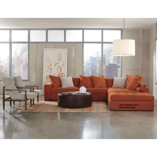 Jonathan Louis Noah 4 Piece Contemporary Sectional
