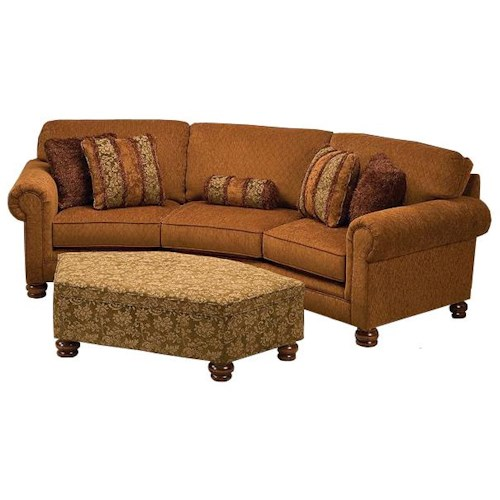 Justice Furniture 707 Large Curved Conversation Sofa with Traditional Furniture Style