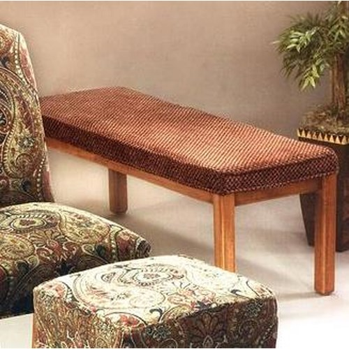 Justice Furniture Accent Chairs and Ottomans Smooth Attached Camel Back in Traditional Parsons Chair Style