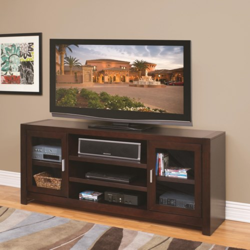 kathy ireland Home by Martin Carlton 72-Inch Wide TV Console with Convection Ventilation