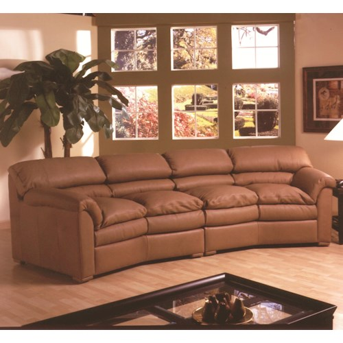 Canyon Casual 4 Seat Conversation Sofa With Pillow Top Seats By Kathy Ireland Home Omnia Furniture