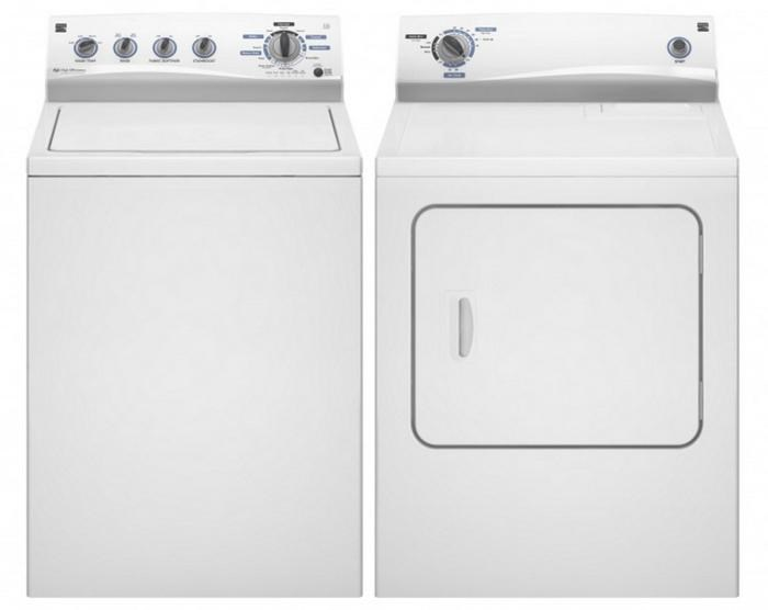 kenmore washer and dryer sets energy star topload washer and electric dryer set