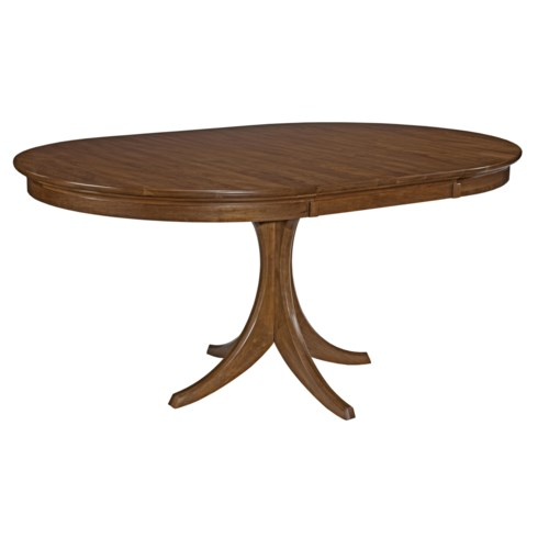 Kincaid Furniture Cherry Park Solid Cherry Round Pedestal Dining Table