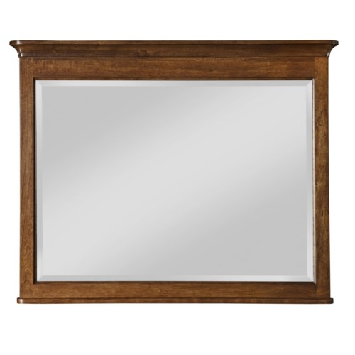 Kincaid Furniture Cherry Park Landscape Mirror with Crown Molding