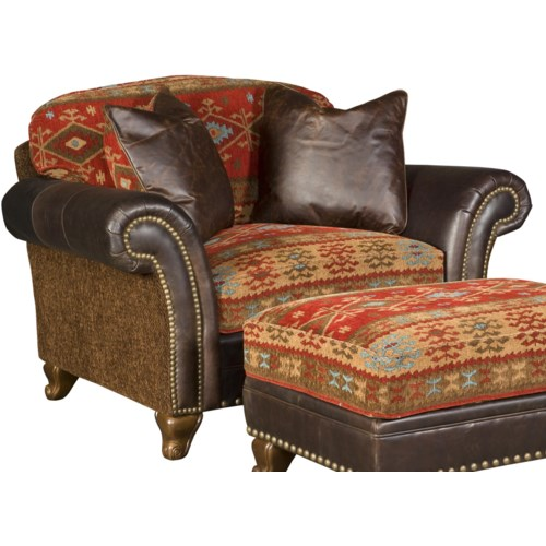 Hickory Manor Katherine Traditional Chair and a Half with Nailhead Trim