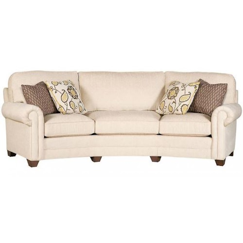 King Hickory Winston Transitional Sofa with Tapered Block Feet