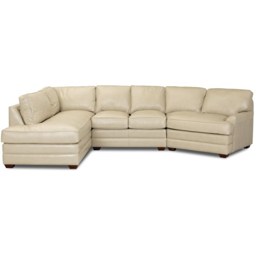 Simple Elegance Grady Contemporary Sectional Sofa With Right Chaise Gardiner Wolf Furniture