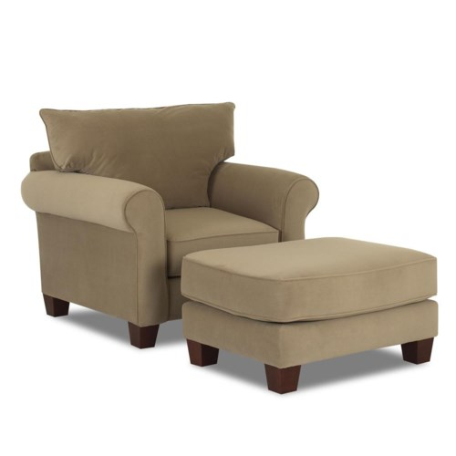Klaussner Hideaway Upholstered Chair & Ottoman