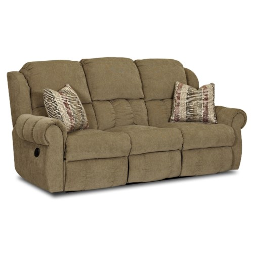 Simple Elegance Rowling Casual Reclining Sofa Gardiner Wolf Furniture Reclining Sofa