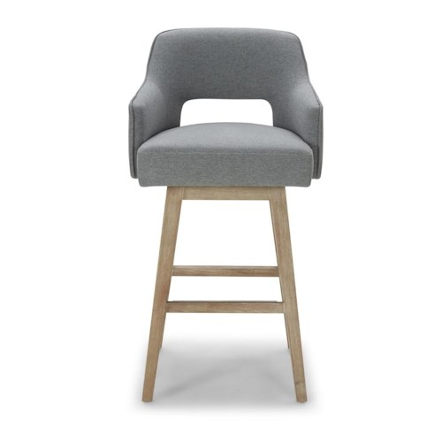 Kuka Home Stools Mid Century Modern Counter Stool With Cut Out Back