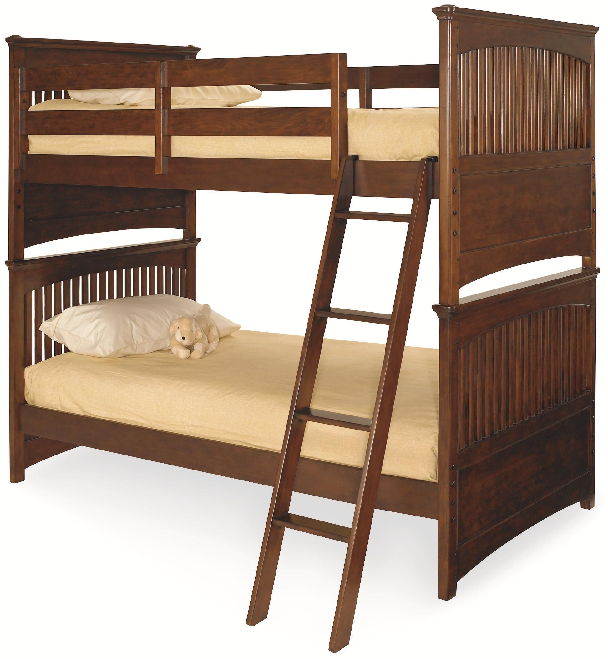 Lea Industries Elite   Crossover Twin Over Twin Shaker Style Bunk Bed