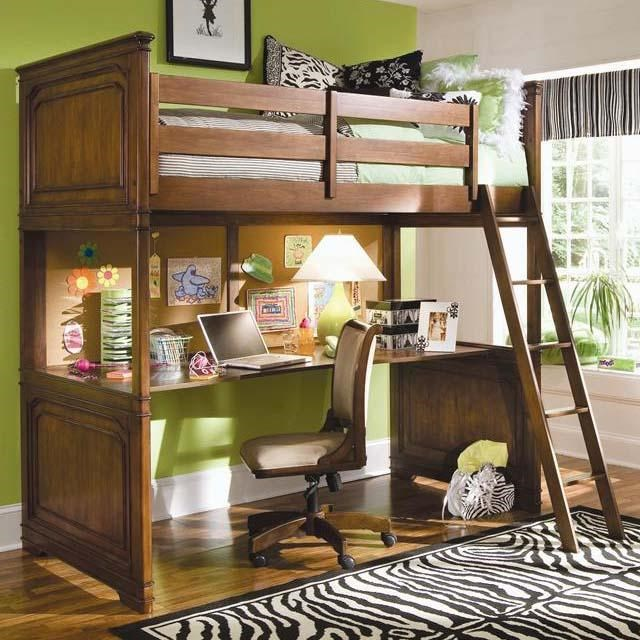 Lea Industries Elite   Classics Twin Loft Bed With Desk Top