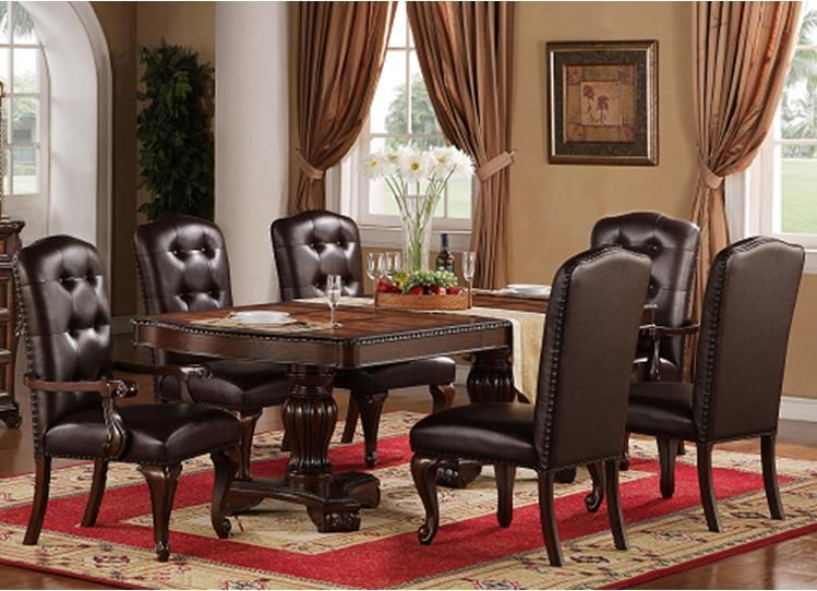 Lee Furniture TBL258 7 Piece Traditional Dining Set