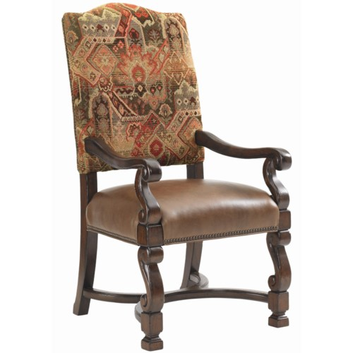 Lexington Fieldale Lodge Aspen Upholstered Dining Arm Chair