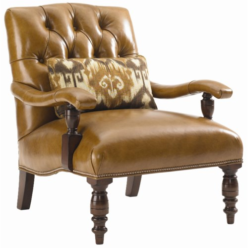 Lexington Fieldale Lodge Wilshire Leather Upholstered Chair with Tufted Back