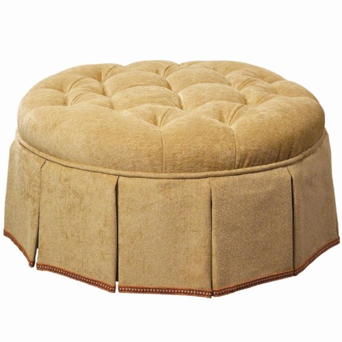 Lexington Lexington Upholstery Lauren Upholstered Ottoman with Tufted Top