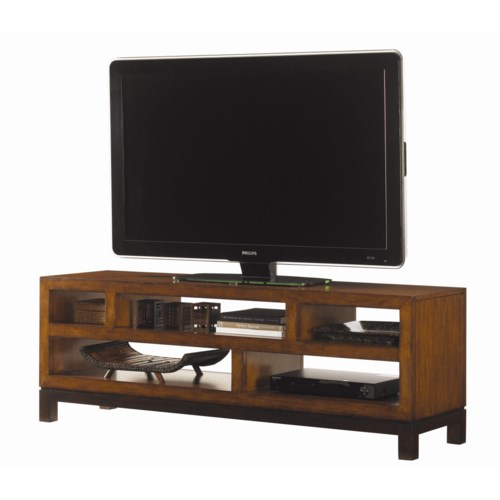 Tommy Bahama Home Ocean Club Pacifica Entertainment Console with Five Shelves