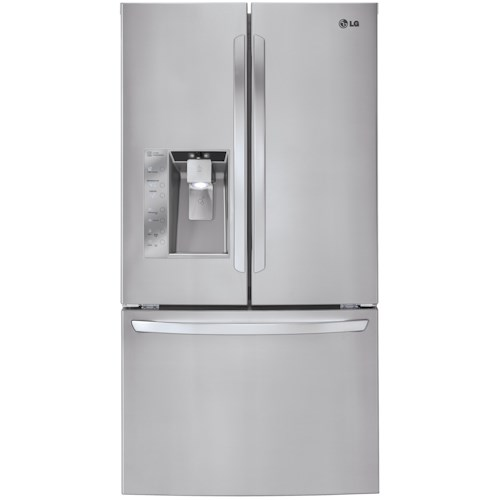 Lg Appliances 33 Cu Ft Mega Capacity French Door Refrigerator